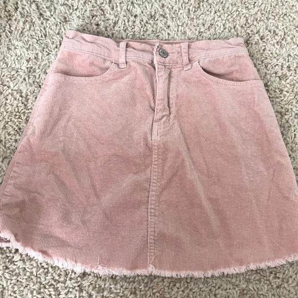 Brandy Melville Dresses & Skirts - Brandy Melville Pink Corduroy Skirt